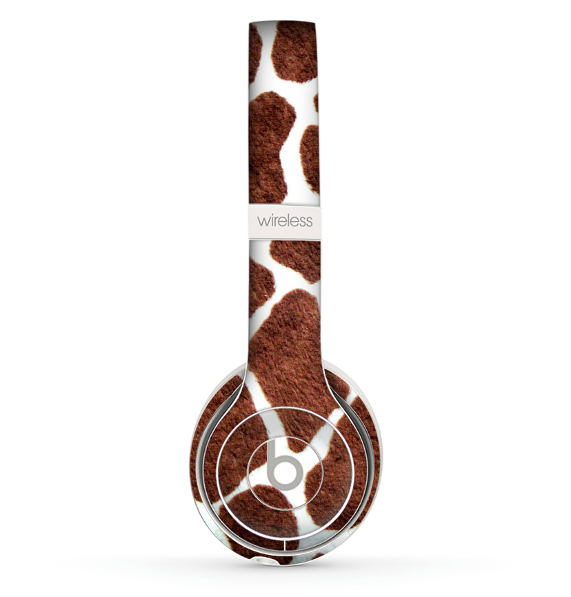 The Real Giraffe Animal Print Skin Set for the Beats by Dre Solo 2 Wireless Headphones