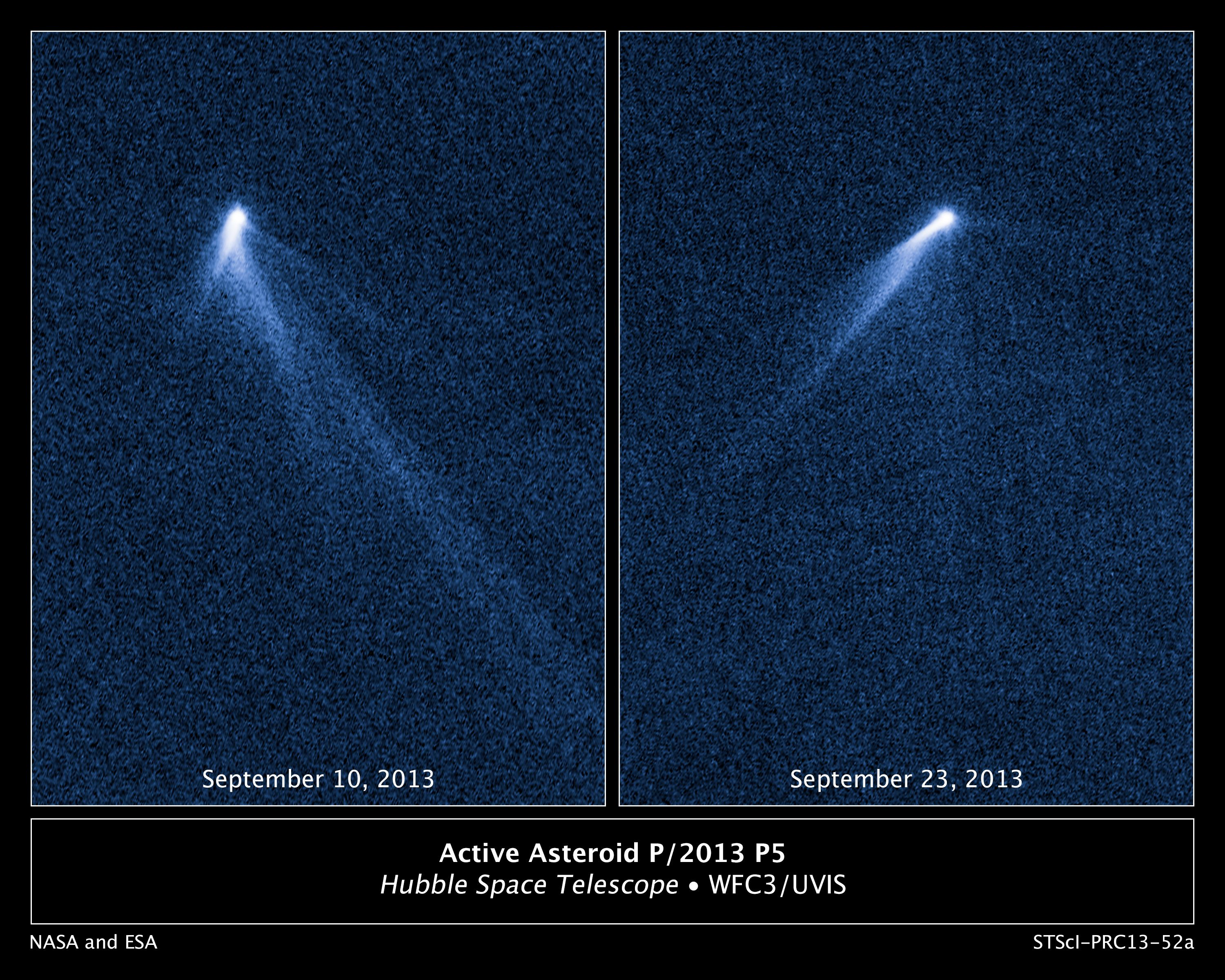 Hubble Sees Asteroid Spouting Six Comet-Like Tails ...