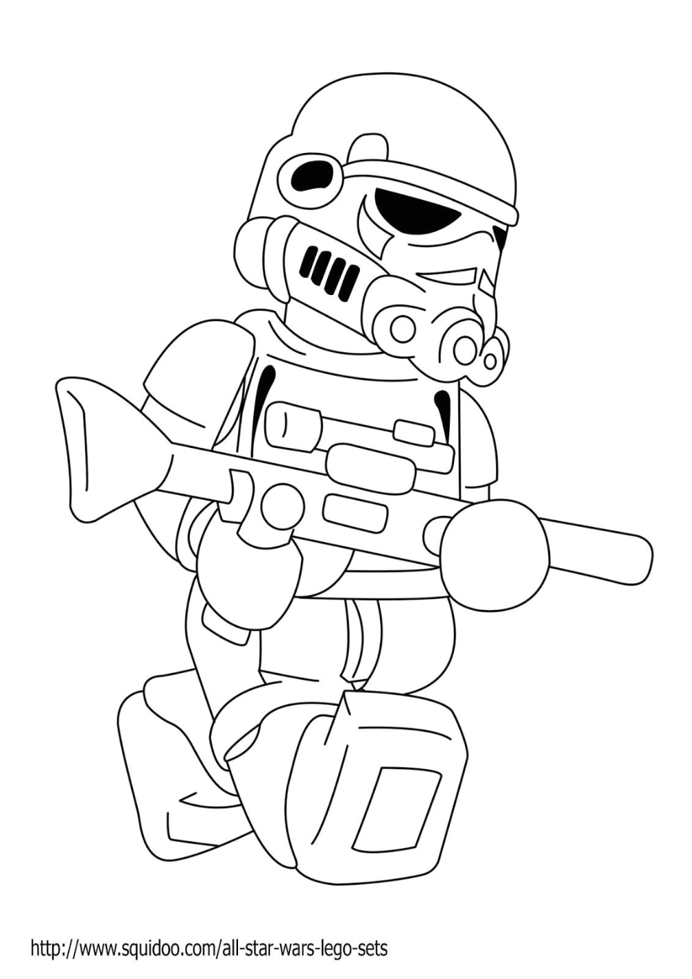 Coloriage Lego Starwars Lego Figure Coloring  Star wars coloring