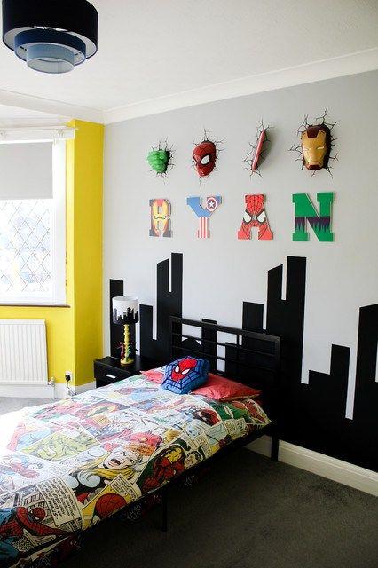 5 Steps To The Perfect Superhero Bedroom Decoracao Quarto Herois