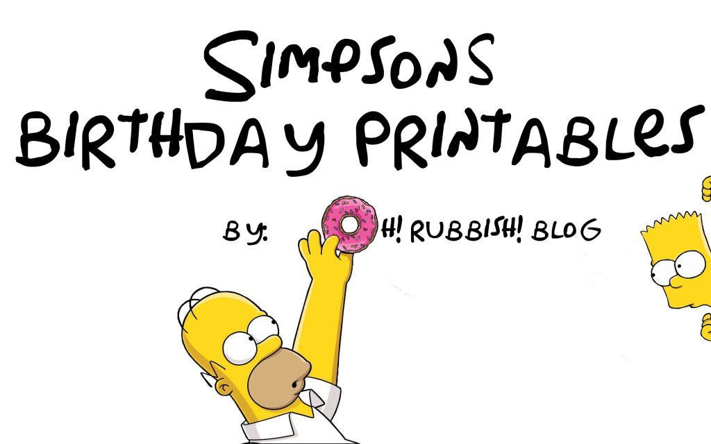 Simpsons birthday party ideas by oh rubbish blog - Simpson anniversaire ...