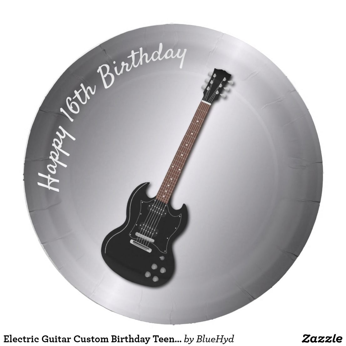 Electric Guitar Custom Birthday Teen Boy Plates
