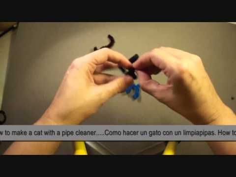 Como hacer un gato con un limpiapipas. How to make pipe cleaner´s cat. - YouTube