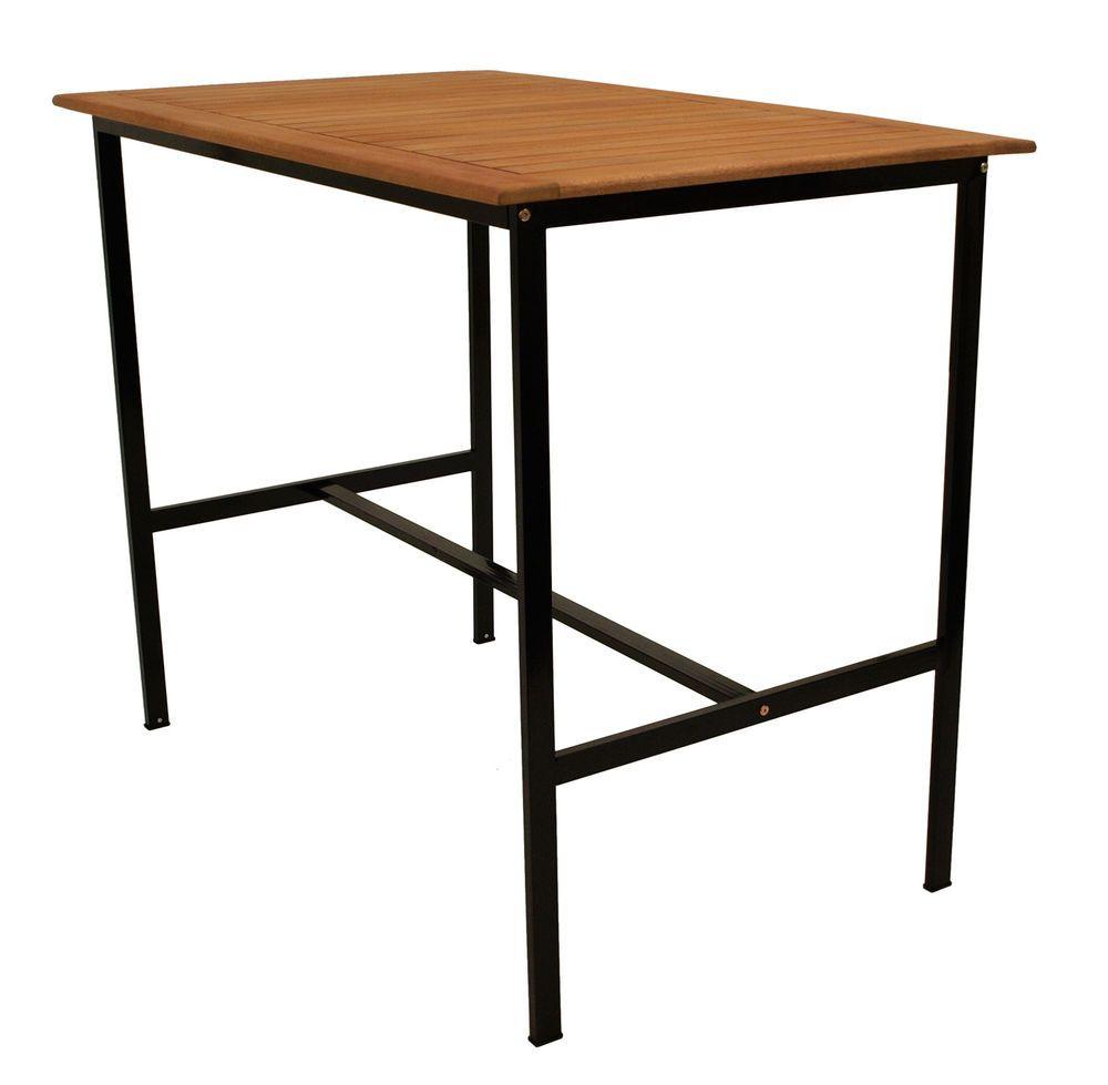 Bartisch Stehtisch DARWIN 135x85cm, Höhe 113cm, Extra Stabil, Metall + Holz  In Garten U0026 Terrasse, Möbel, Tische | EBay!