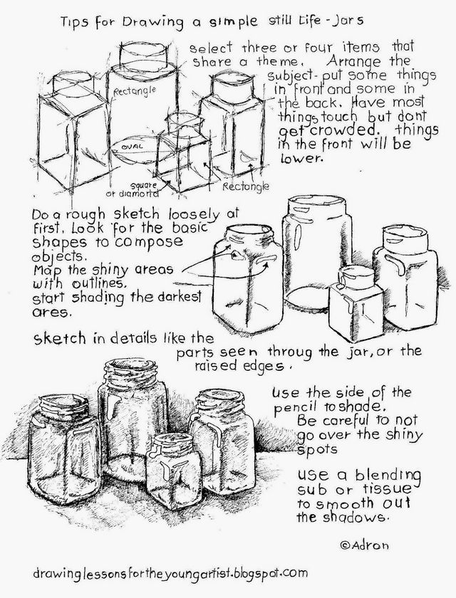 Tips for How To Draw a Still Life, Free Printable Worksheet (How to