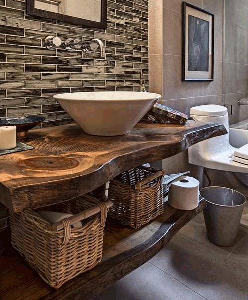 Bagno rustico in legno bagno rustico with bagno rustico - Accessori bagno rustici ...