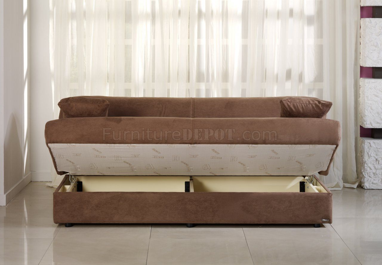 Microfiber Sofa Bed With Storage