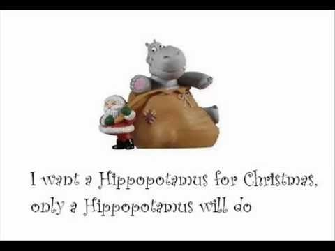Shirley Temple I Want A Hippopotamus For Christmas With Lyrics Best Christmas Son Christmas Songs Lyrics Hippopotamus For Christmas Funny Christmas Songs