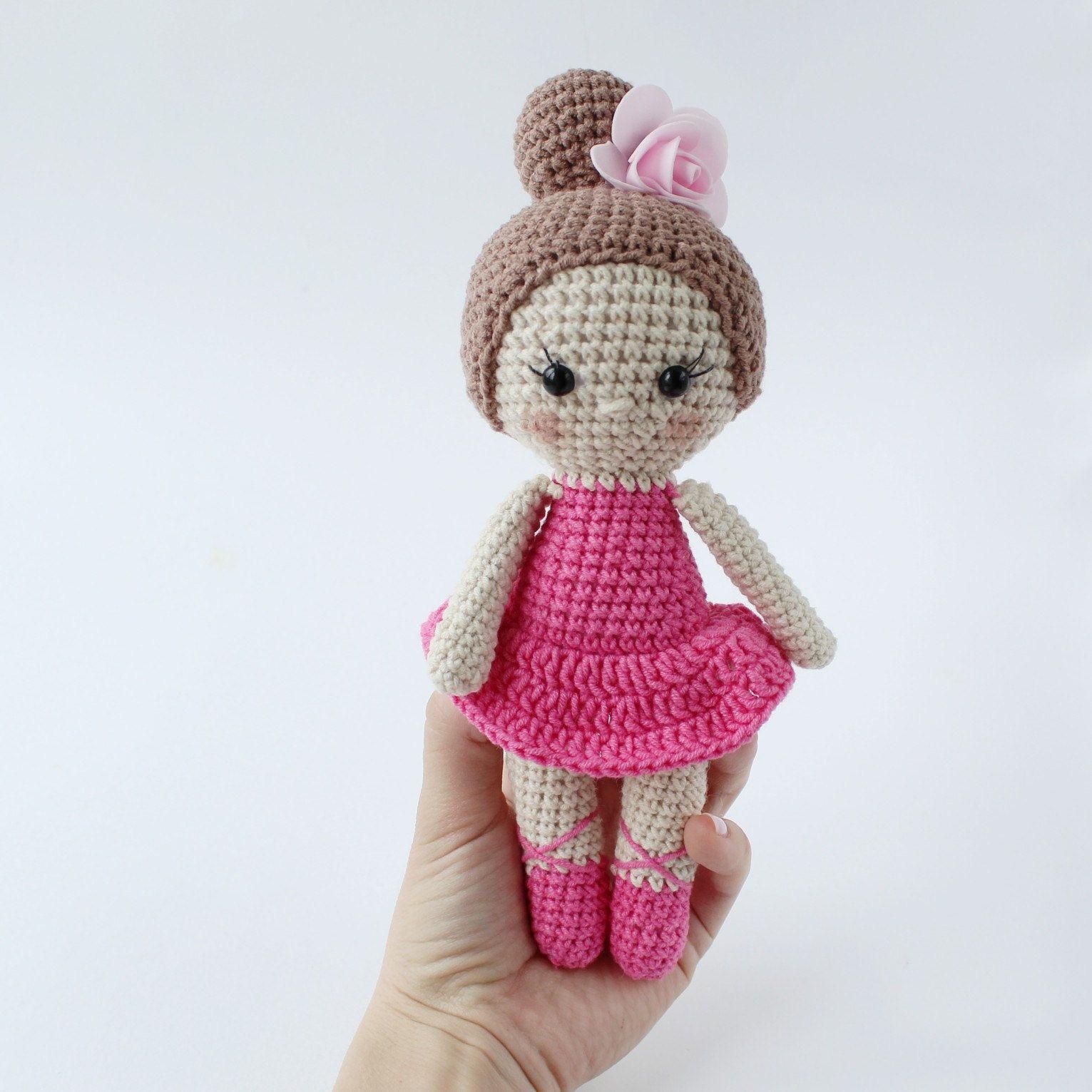Gift For Dance Teacher Crochet Ballerina Doll In Pink Dress Etsy Ballerina Doll Crochet Doll Tutorial Dance Teacher Gifts