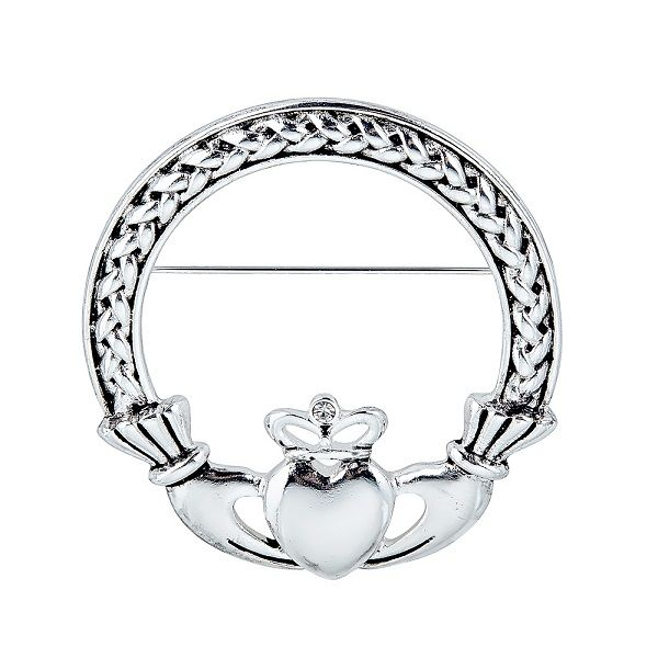 Wovencladdaghbrooch Celtic Jewelry Pinterest Claddagh And