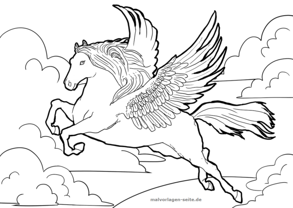 Malvorlage Pegasus Fabelwesen Ausmalbilder Ausmalen Ausmalbild