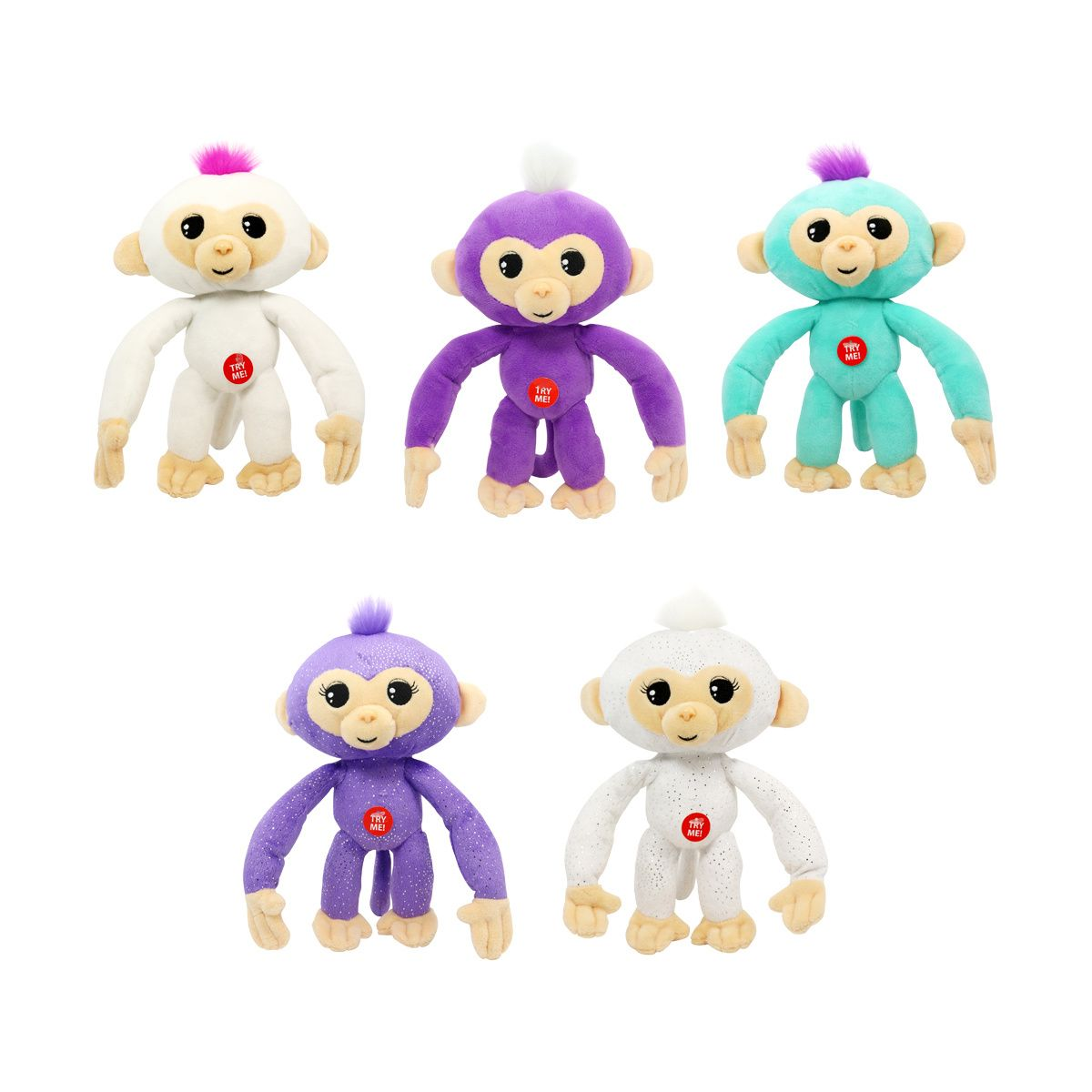Fingerlings in poseable plush with sound assorted birthday