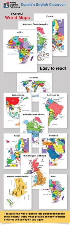 Esl world maps students homework center and geography esl world maps gumiabroncs Images