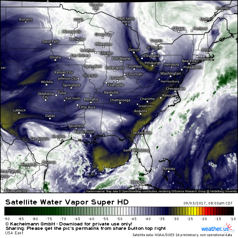 Satellite Water Vapor Super Hd Usa East Weather Weather - Us-water-vapor-map