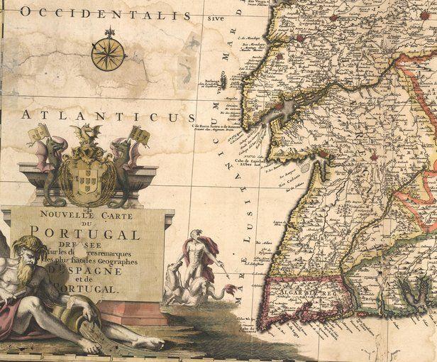 Novo Mapa Mostrando As Exploracoes Espanholas E Portuguesas Com