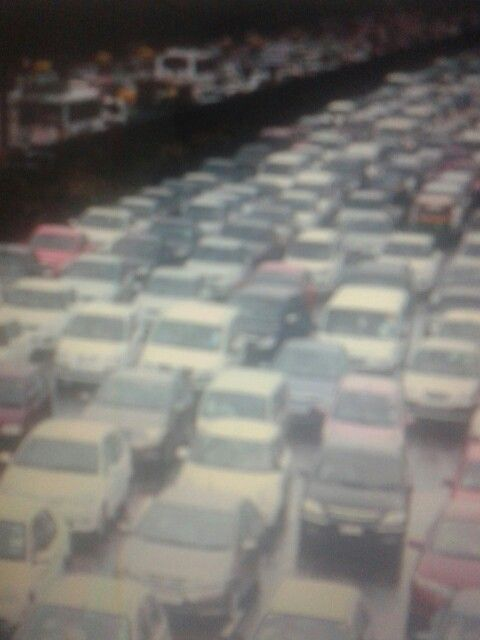 congestionamento na avenida Paulista.
