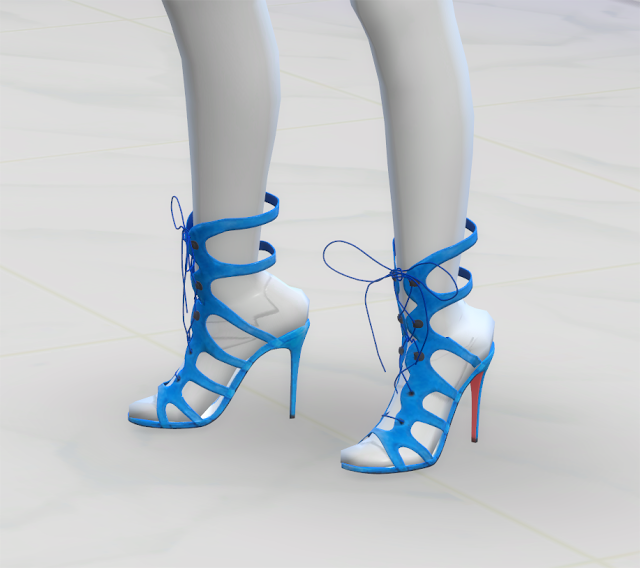 Sims 4 CC's - The Best: Christian Louboutin Suede Sandals by GreenApple18r...