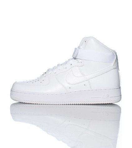 NIKE Air Force Ones High top men\u0027s sneaker Lace up closure Padded tongue  with NIKE logo