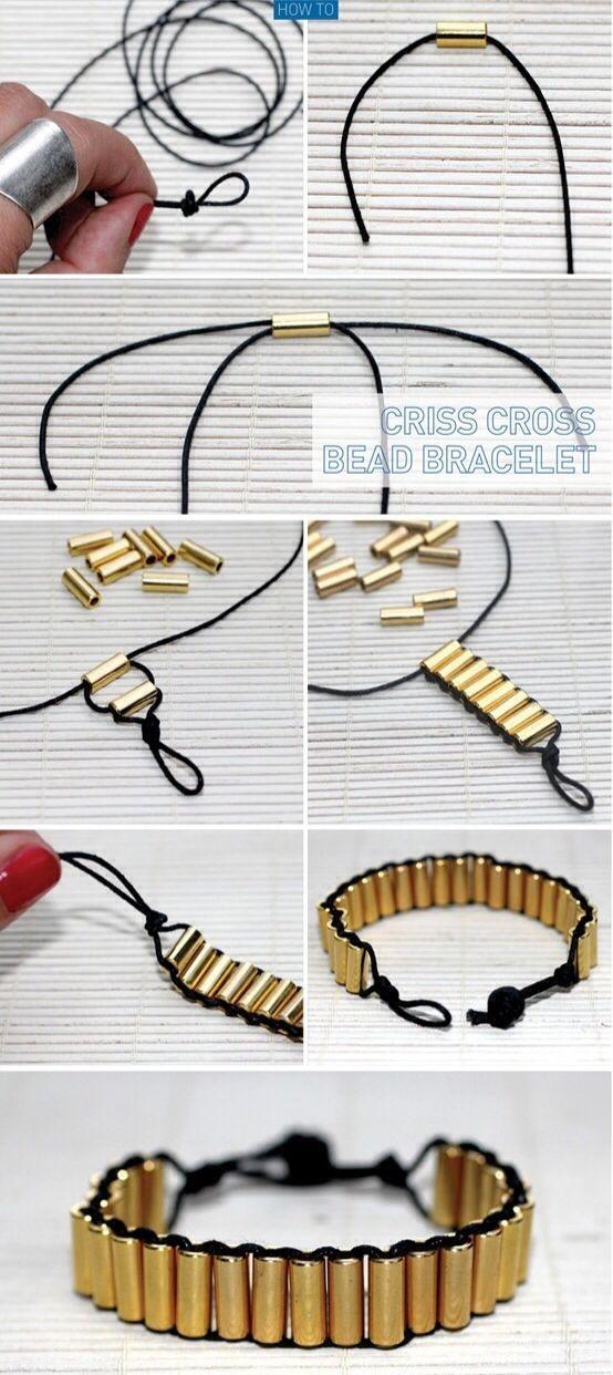 Cross Cross Bead Bracelet