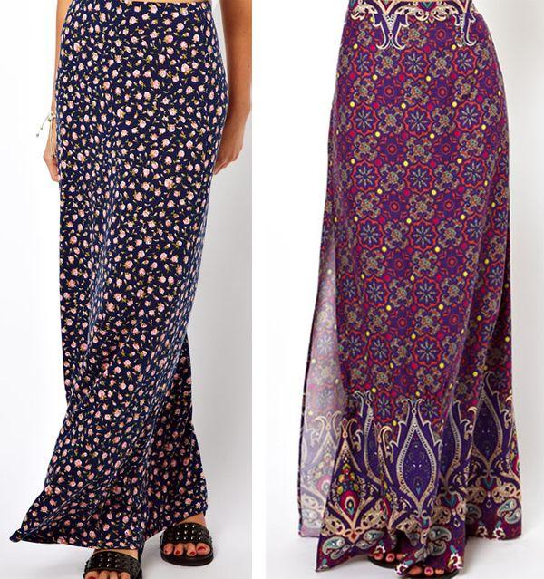 ad68bdab9 Diferentes modelos de faldas floreadas 1 | Faldas en 2019 | Faldas ...