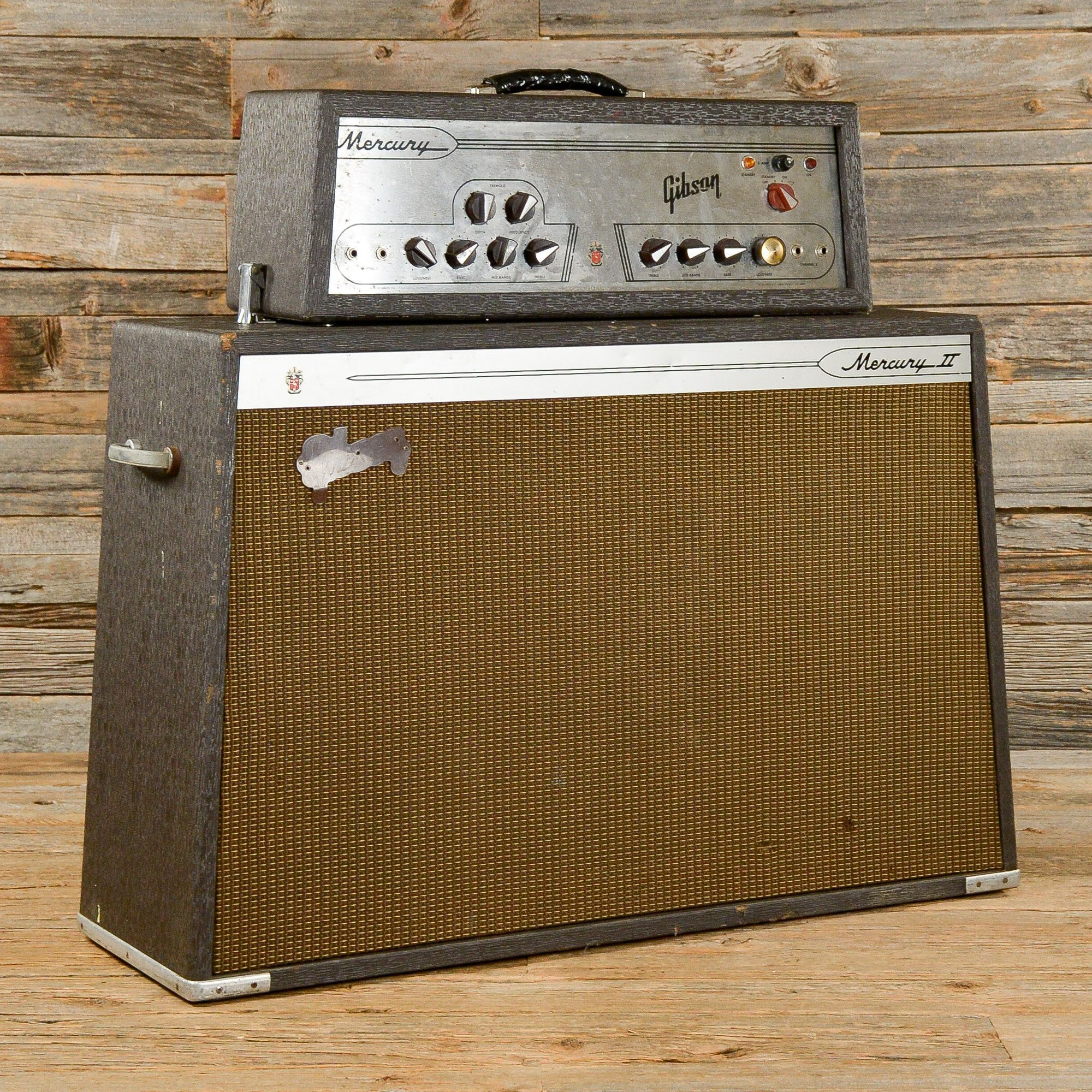 gibson mercury ii 35w head cab 1960s s417 cool music gear in 2019 guitar amp vintage. Black Bedroom Furniture Sets. Home Design Ideas