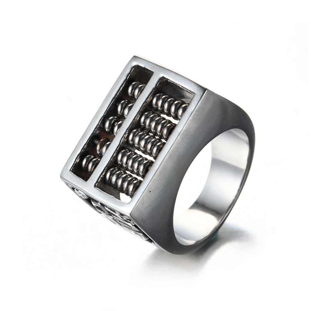 No Need To Spend A Fortune On These: Abacus Good Fortune Stainless Steel Ring In 2020