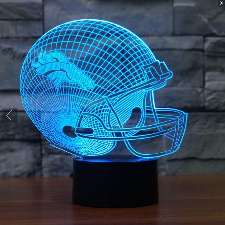 Nfl denver broncos 3d led light lamp | Placas