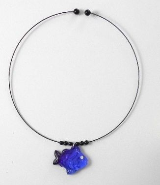by Jelli Jewels, Fish Choker. Found on MSAProductShop and in museum stores