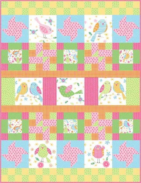 Flirty Sampler Quilt Pattern FHD-132 (advanced beginner, wall hanging)
