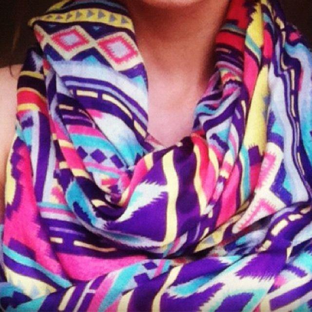 Tribal print scarf.