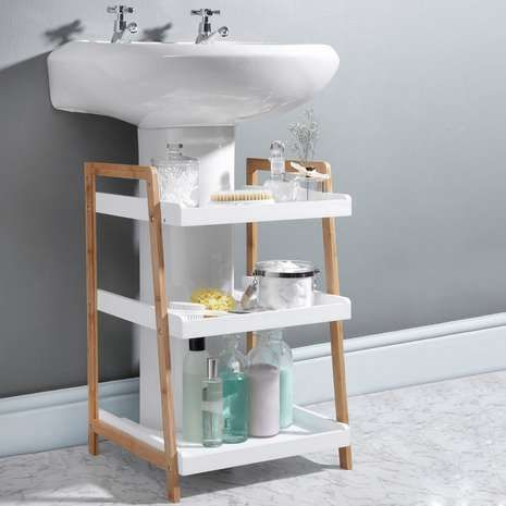 Easy To Wipe Clean This Practical Under Sink Bathroom Caddy