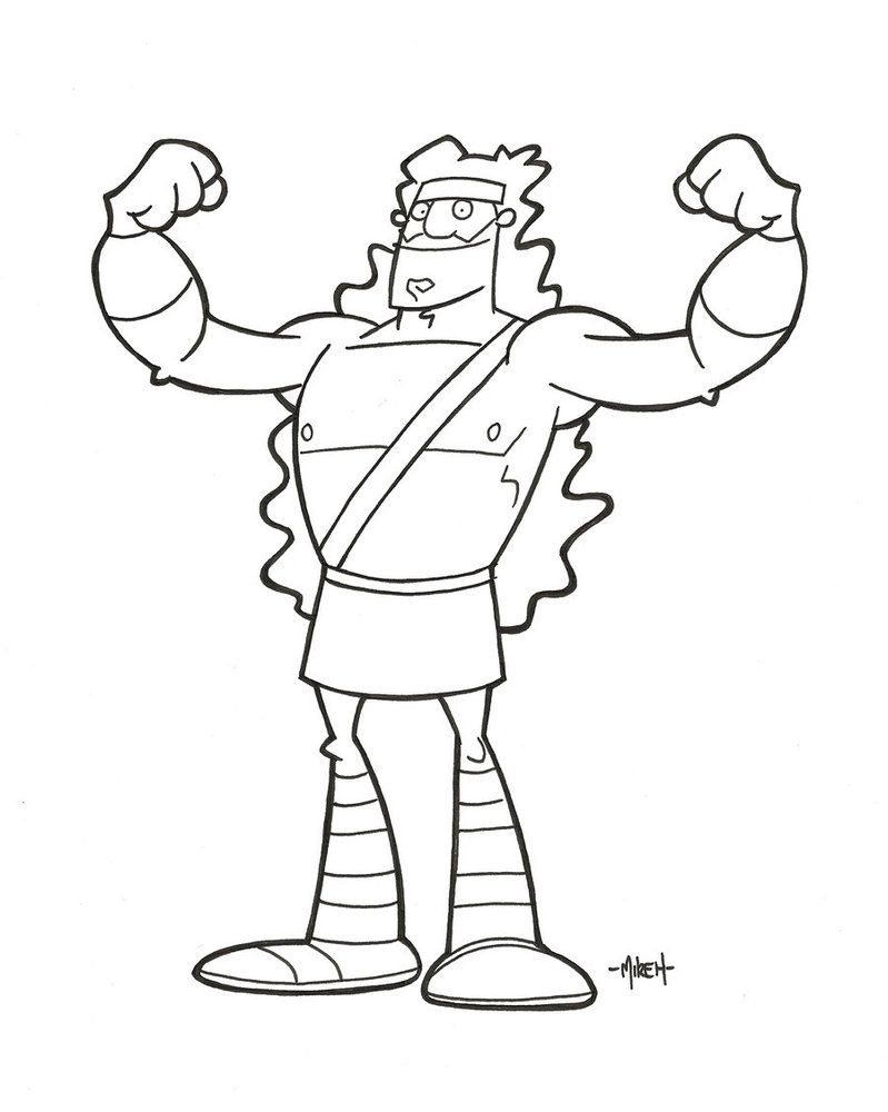 Samson Coloring Pages Bible Crafts Childrens Church Crafts
