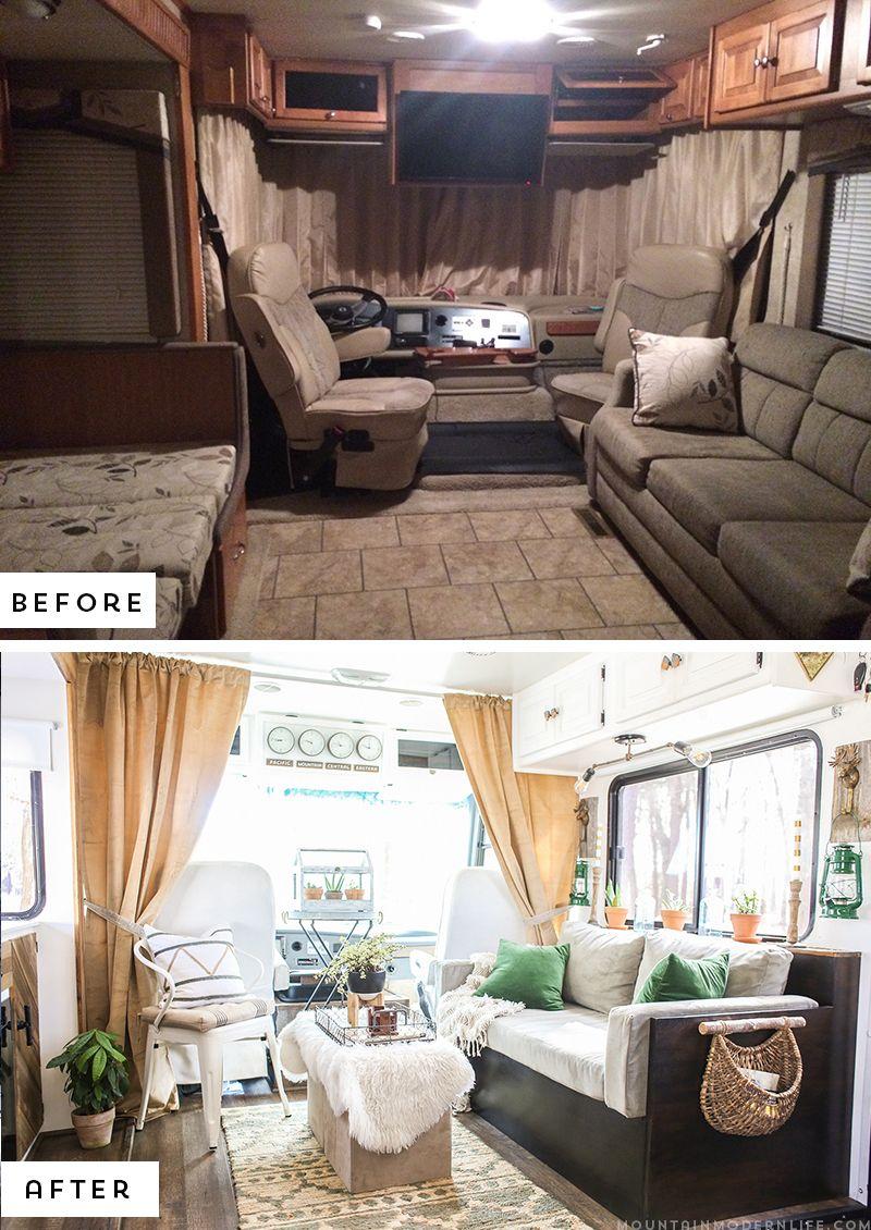 Rustic Modern Rv Tour Camper Makeover Vintage Interior