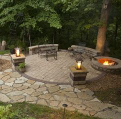 Fire Pit At The Edge Of A Patio Google Search Backyard Fire