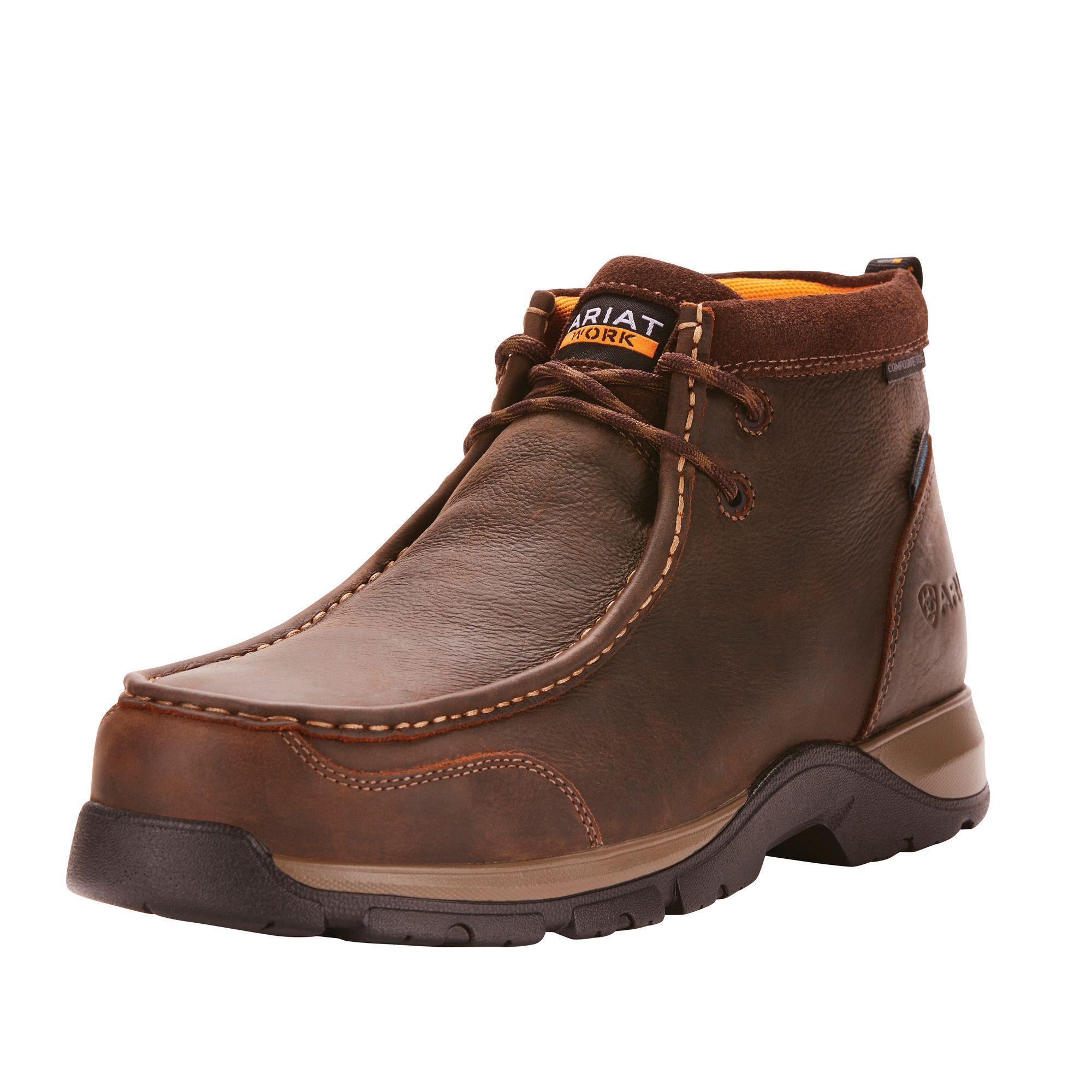 Edge Lte Moc Waterproof Composite Toe Work Boot Composite Toe Work Boots Boots Dark Brown Leather