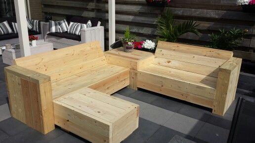 Stijgerhout  loungeset