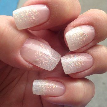 Image result for glitter ombre french manicure Ombre French Nails, Glitter  French Manicure, Glitter