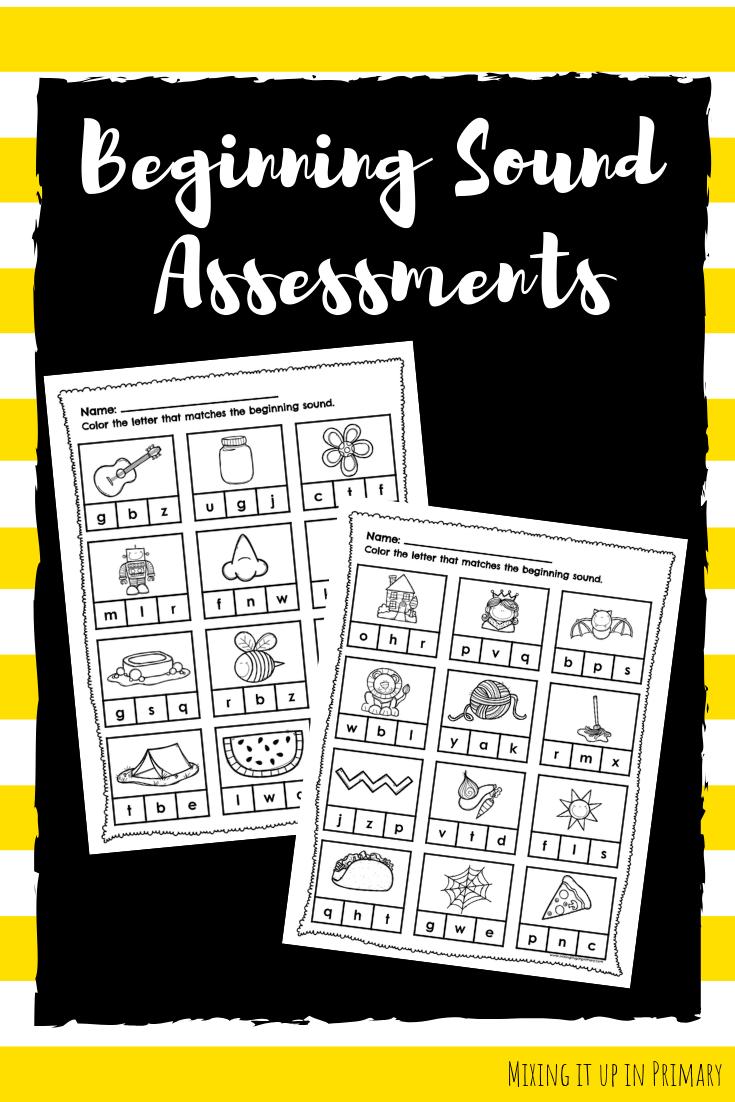 Beginning Sound Activities and Assessments Beginning