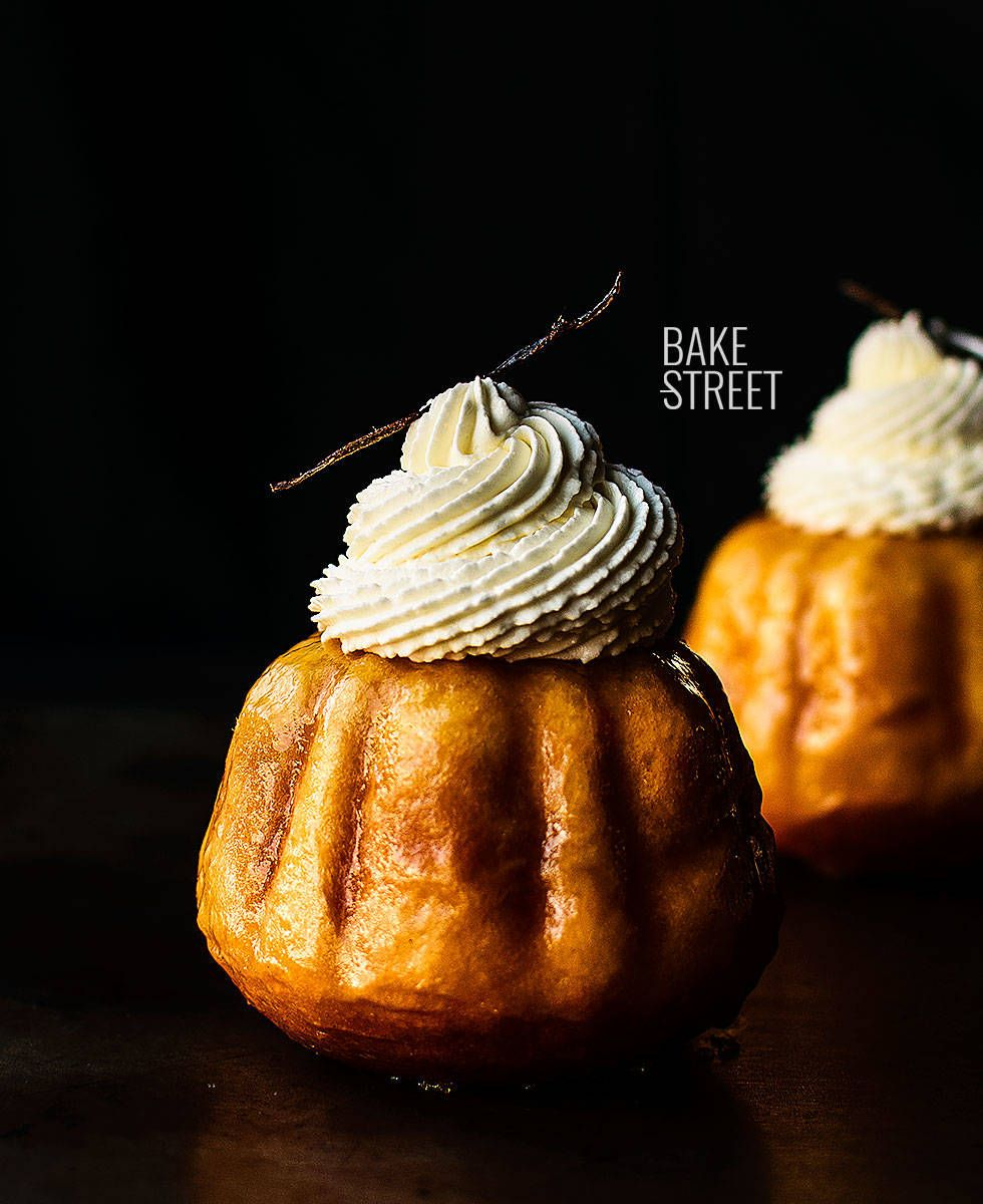 Baba au Rhum with Chantilly - Bake-Street.com