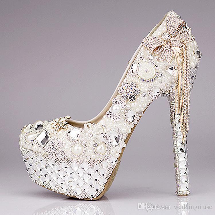 New 2018 Luxury Wedding Shoes Glitter