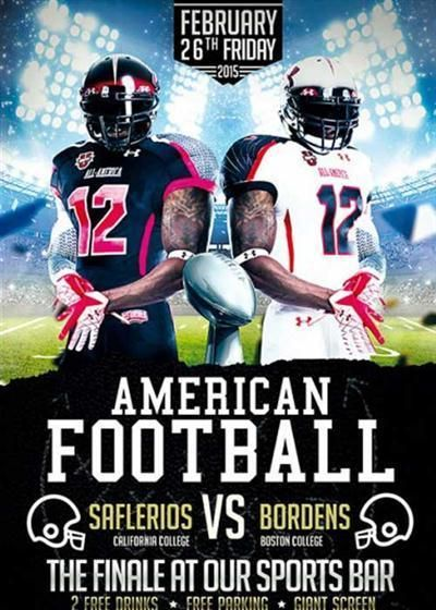 Pin by Tina Gillespie on SPORTS POSTER (SCHOOL) Pinterest - football flyer template free