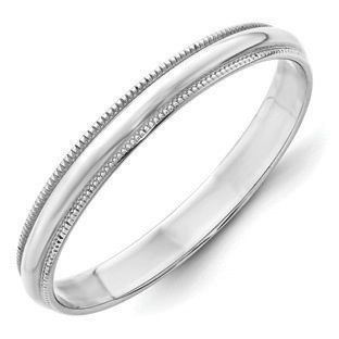 Perfect Jewelry Gift 14KY 3mm Half Round with Edge Band Size 5