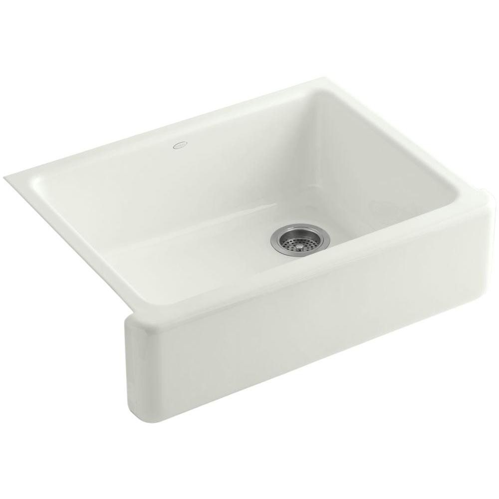Kohler Whitehaven Self Trimming 30 Under Mount Single Bowl Kitchen Sink With Tall A Cast Iron Kitchen Sinks Single Basin Kitchen Sink Cast Iron Farmhouse Sink