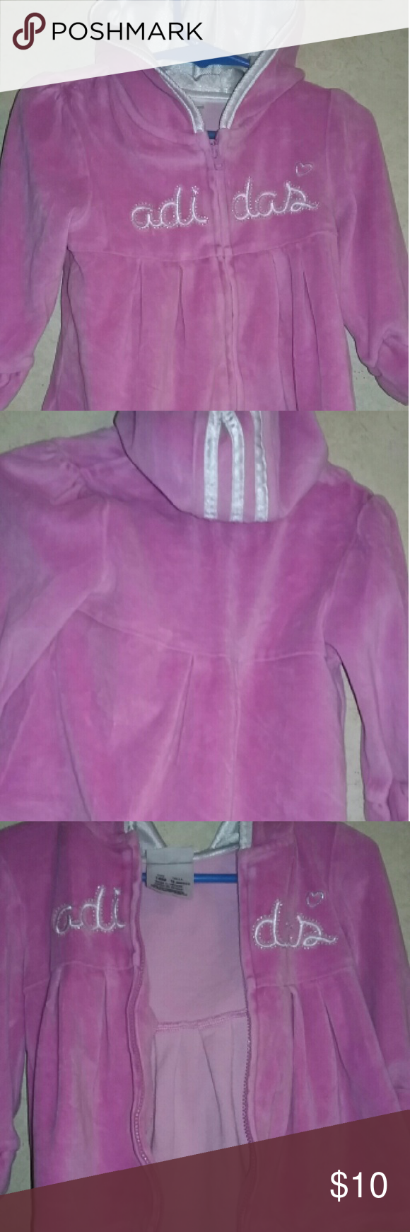 ADIDAS ZIP UP HOODIE ADIDAS ZIP UP HOODIE SIZE GIRLS 18 MONTHS... IN NEW CONDITION... FAST SHIPPING adidas Shirts & Tops Sweatshirts & Hoodies