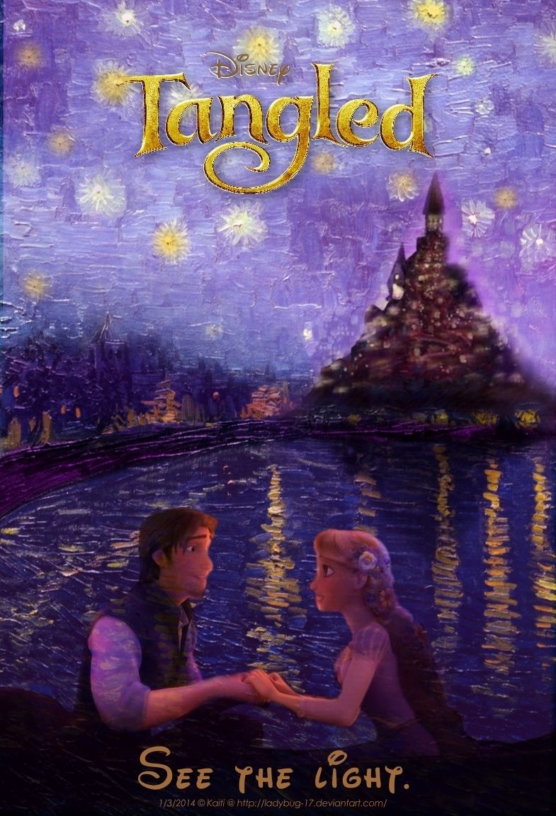 Tangled Starry Night Movie Poster Starry Night Van Gogh Tangled Movie Starry Night