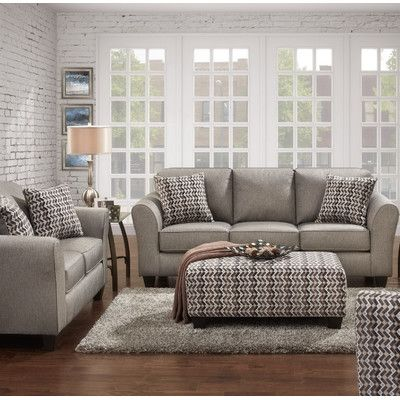 Wildon Home  Carlos 3 Piece Living Room Set