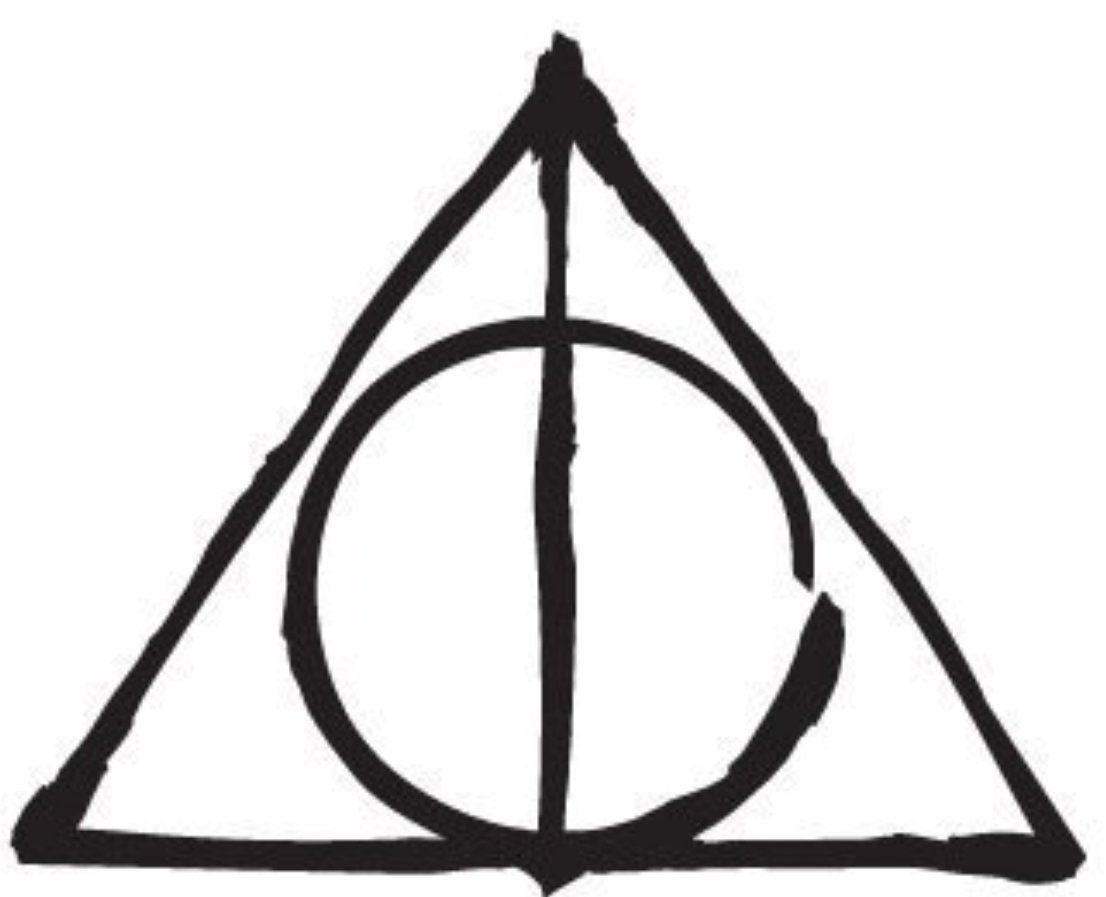 Image of Harry Potter deathly hallows symbol (With images ...