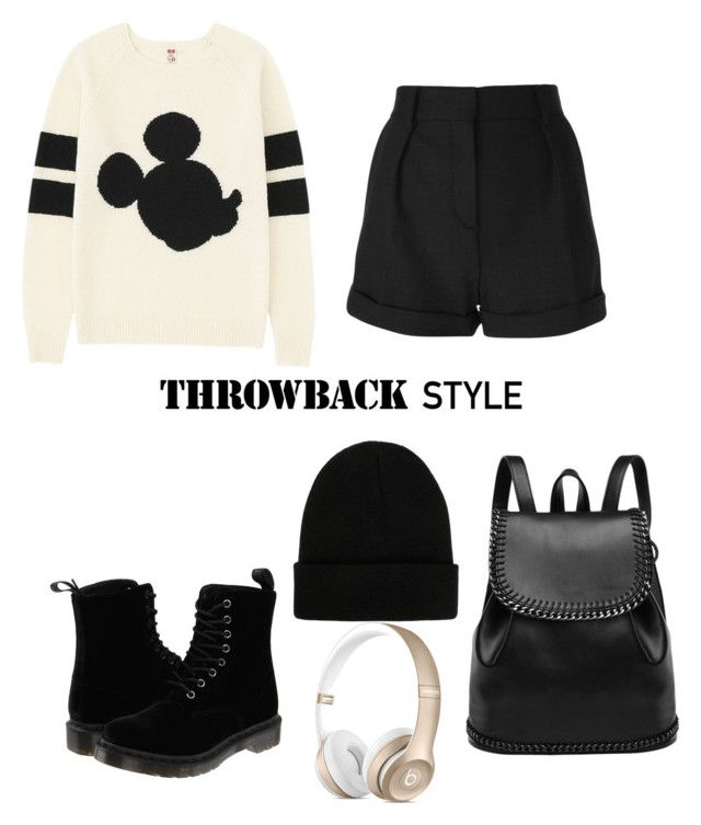 """""""ttt"""" by dash-001 ❤ liked on Polyvore featuring moda, Uniqlo, IRO, Dr. Martens y NLY Accessories"""