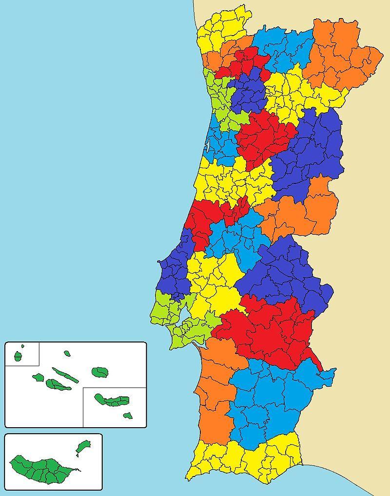 Areas Urbanas De Portugal Area Metropolitana Portugal