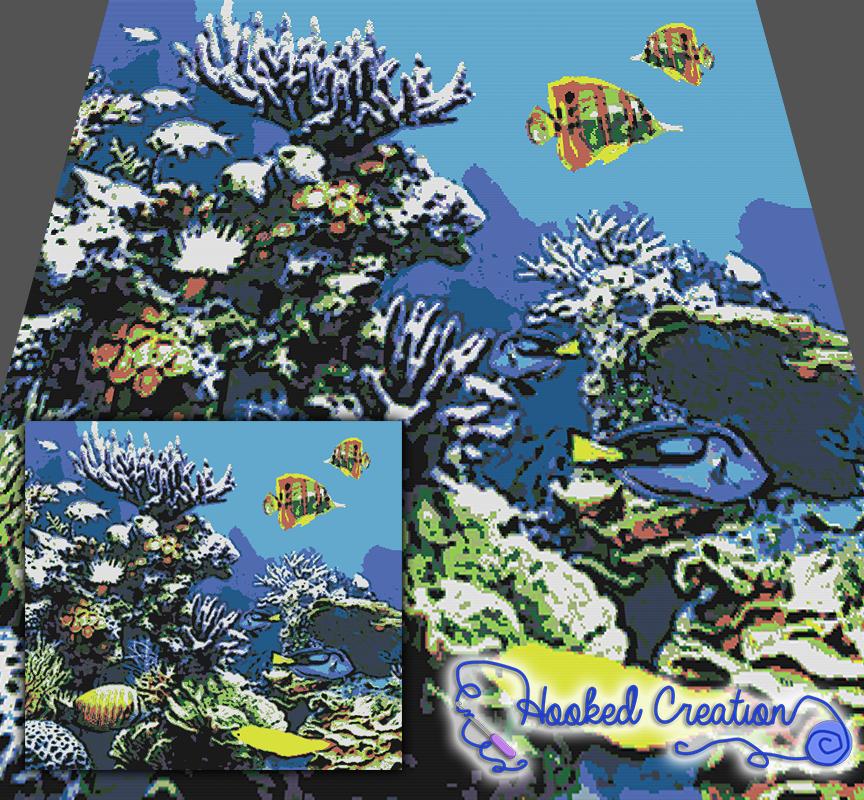 Coral Reef SC (Single Crochet) King Blanket Crochet Pattern | Pinterest